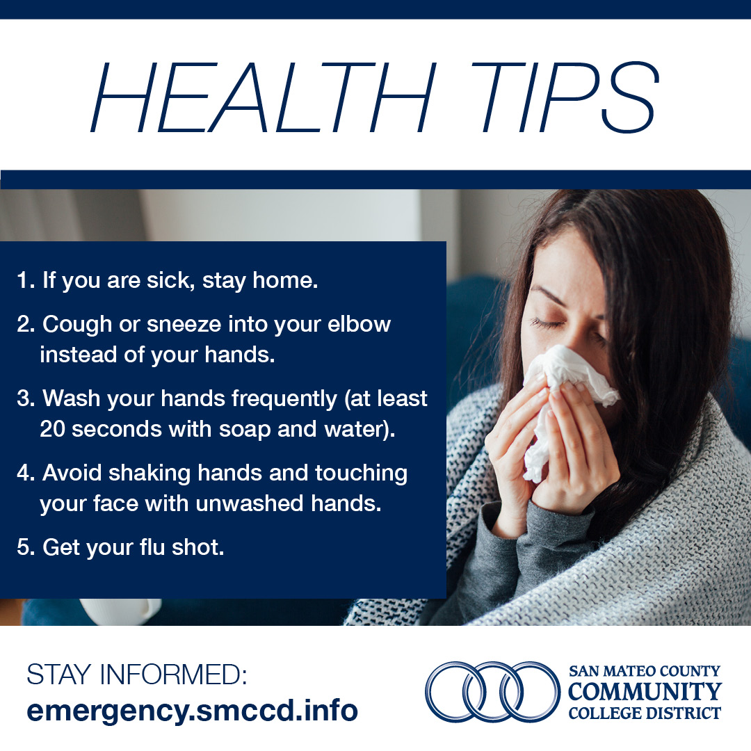 SMCCCD Health Tips Social Media Post